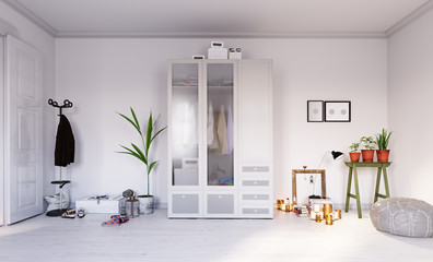 modern  living interior design.