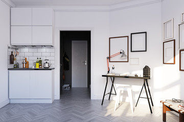 scandinavian style  interior.