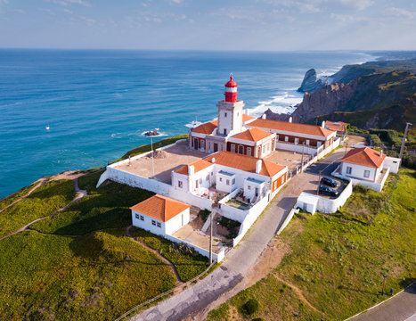 Cabo da Roca with lighthouse, Portugal