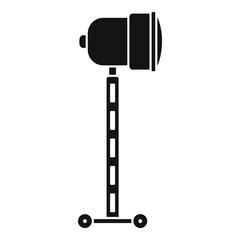 Cinema spotlight icon. Simple illustration of cinema spotlight vector icon for web design isolated on white background