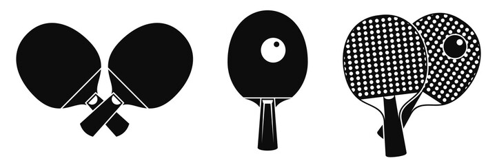 Table tennis equipment icons set. Simple set of table tennis equipment vector icons for web design on white background Wall mural