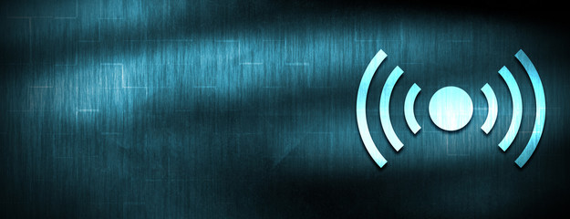 Network signal icon abstract blue banner background