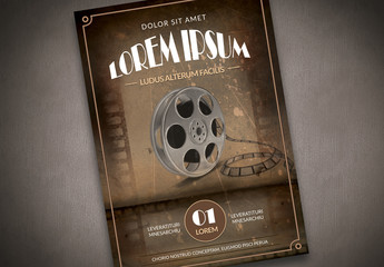 Vintage Hollywood Style Film Poster Layout