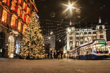 Weihnachten am Paradeplatz Fotomurales