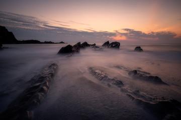 Ilfracombe sunset devon england uk