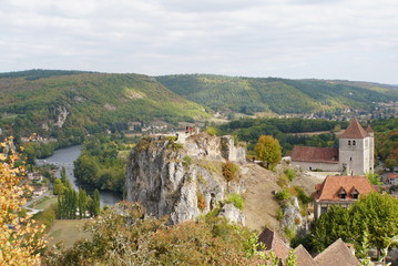 Landscape of saint-cirq-lapopie
