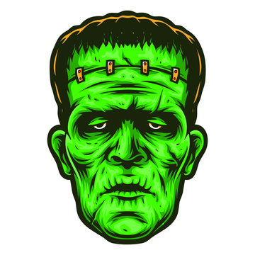frankenstein vector logo and cartoon
