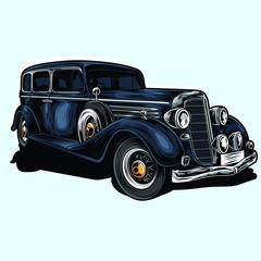 mafia car vector