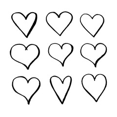 Hand drawn heart icon