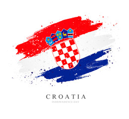 Croatia flag. Vector illustration on white background.