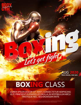 Boxing class poster