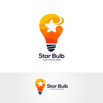 star idea logo template, smart idea logo designs, light bulb logo designs concept