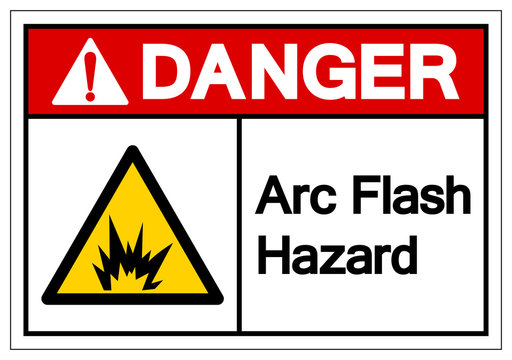 Danger Arc Flash Hazard Symbol Sign, Vector Illustration, Isolate On White Background Label .EPS10