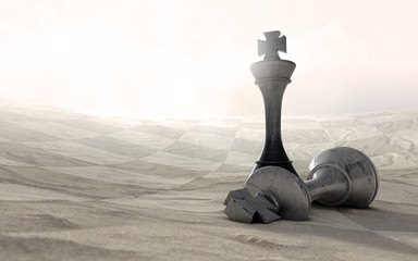 Desert Chess Game Over