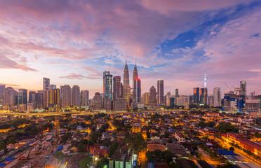 Canvas Prints Kuala Lumpur City of Kuala Lumpur, Malaysia with ariel view at sunrise