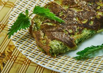 Nettle Omelet and Spring Herbs
