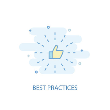 Best Practices line concept. Simple line icon, colored illustration. Best Practices symbol flat design. Can be used for UI/UX