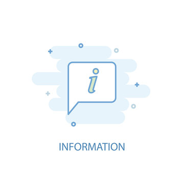information line concept. Simple line icon, colored illustration. information symbol flat design. Can be used for UI/UX