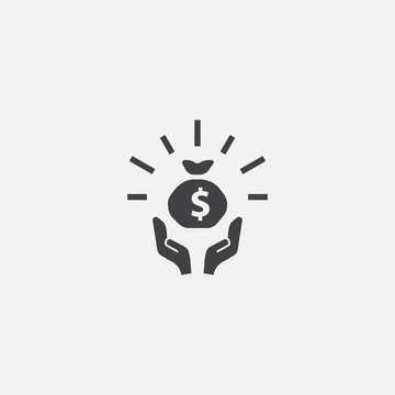 fundraising Glyph icon. Simple sign illustration. fundraising symbol design. Can be used for web, print and mobile