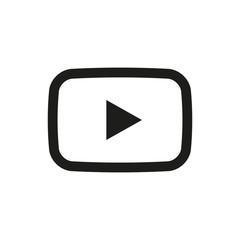 Button video player Social media. Vector illustration. EPS 10