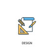 design concept 2 colored icon. Simple blue element illustration. design concept symbol design. Can be used for web and mobile UI/UX