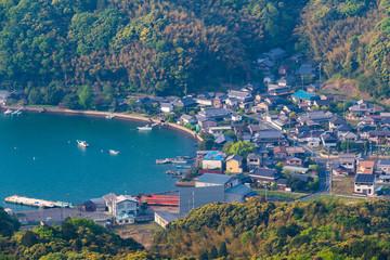 Sea and mountain scenery of Maizuru city, Kyoto Prefecture, Japan