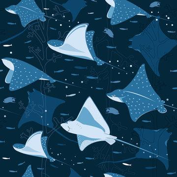Blue stingray pattern