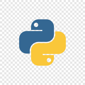 Vector illustration of an icon of the Python programming language. Logo in the form of two snakes.
