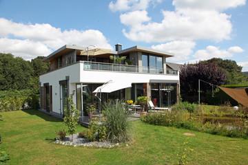 Einfamilienhaus modern  Fenster Architektur Haus bauen