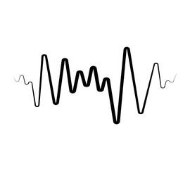 Photo sur Plexiglas Abstract wave Black Music wave symbol. Equalizer logo element
