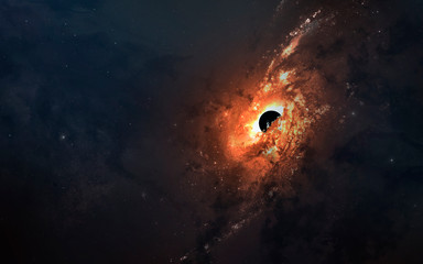 Wall Mural - First image of black hole. Wormhole in deep space. Messier 87. Elements of this image furnished by NASA