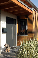 Haustür modern Einfamilienhaus Haus Eingang
