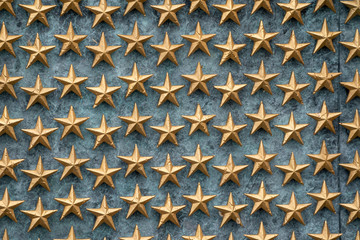 Stars of freedom on the wall at the World War II Memorial in Washington DC