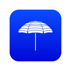 Beach umbrella icon digital blue for any design isolated on white vector illustration