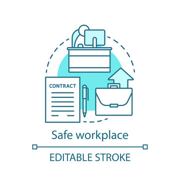 Safe workplace concept icon