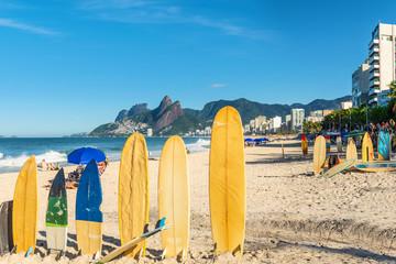 Amazing view of Ipanema Beach, Rio de Janeiro, Brazil