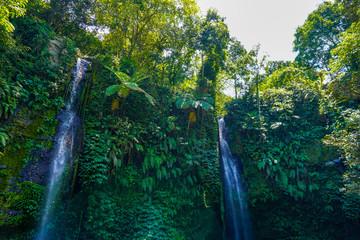 Air Terjun Kelambu waterfall on the island Lombok, Indonesia Wall mural