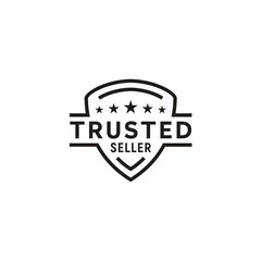 Minimalist Trusted Seller Stamp Logo Design
