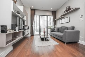Obraz Modern living room interior - fototapety do salonu