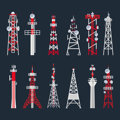 Radio tower set, media and information technology