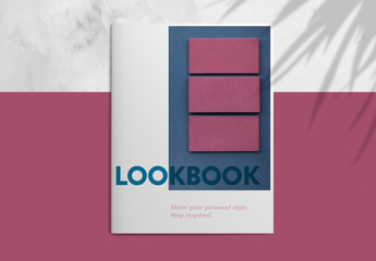 Pink and Blue Lookbook Layout