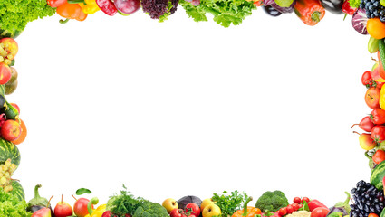 Wall Mural - Fruits and vegetables frame