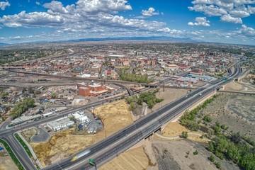 Aerial View of Downtown Pueblo in Southern Colorado