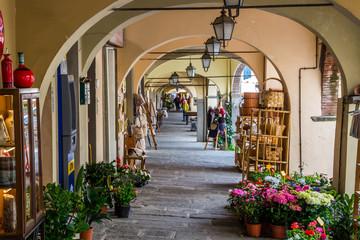 streets in Greve in Chianti in Tuscany