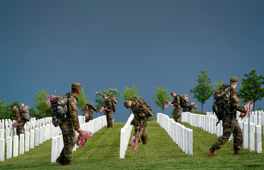 """Flags-In"" at Arlington National Cemetery"