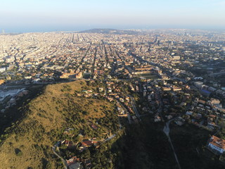 Aerial view in Barcelona. Catalonia,Spain. Drone Photo