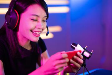 cybersport gamer have live stream
