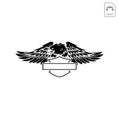 harley davidson emblem or icon abstract vector isolated