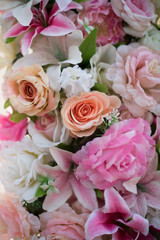 Foto op Canvas Bloemen Flowers decorated for wedding background