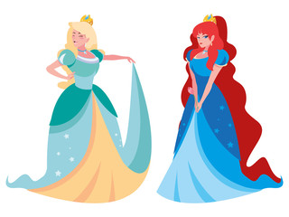 beautiful princesses of tales characters